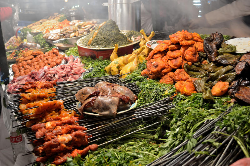 Traditional food stall royalty free stock photos