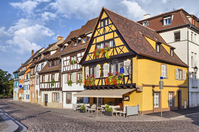 Download Traditional French Houses In Colmar Stock Photo