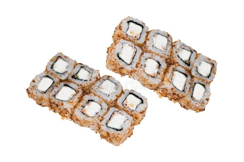 Traditional fresh japanese sushi rolls royalty free stock images