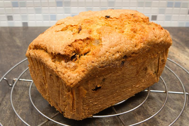 Traditional fruit loaf A traditional British fruit loaf stock image