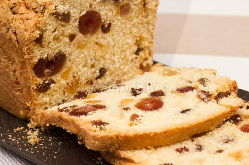 Traditional fruit loaf A traditional British fruit loaf royalty free stock photography