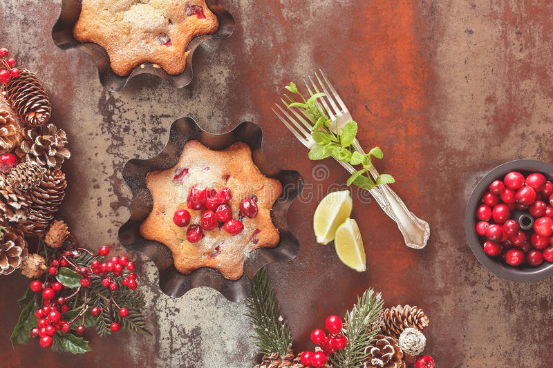 Traditional fruitcake for Christmas stock photography
