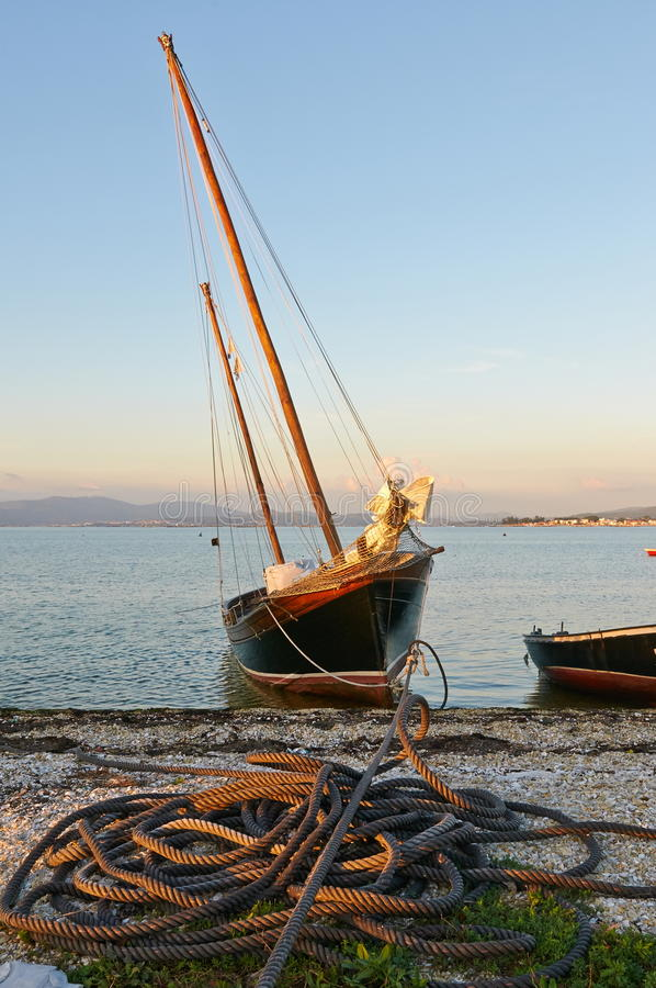 Traditional Galician Fishing boat royalty free stock images