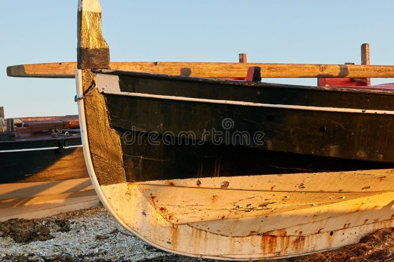 Traditional Galician fishing boats royalty free stock image