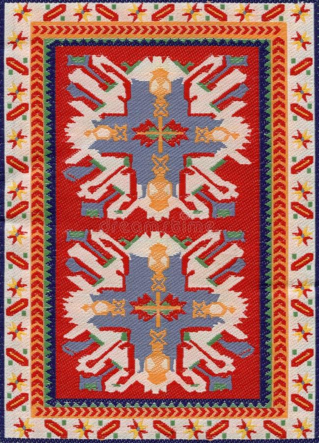 Traditional Geometric Ethnic Orient Antique Carpet Textile. Traditional Ethnic Orient Antique Carpet Textile Anatolia Ornaments Geometric styles stock photo