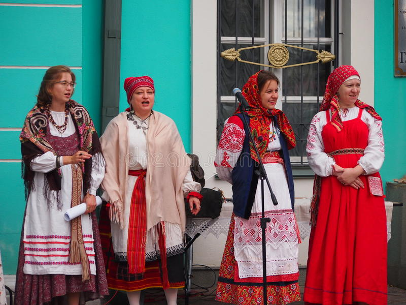 Traditional Georgian Folk Singers royalty free stock photography