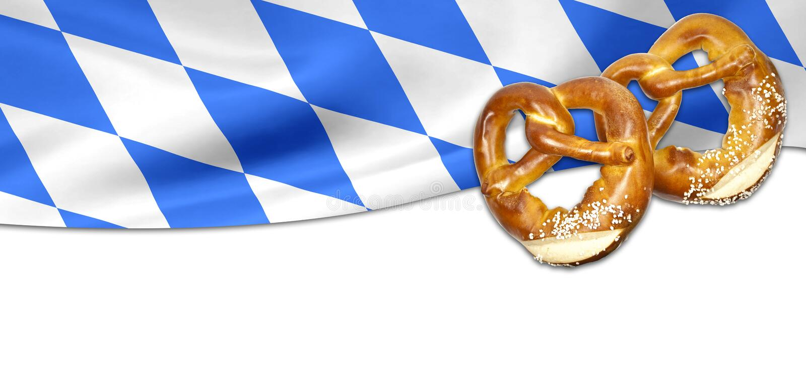 Traditional german bavarian festival Oktoberfest with pretzels, beer and gingerbread heart royalty free stock images