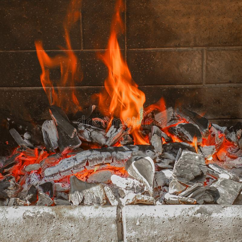 Traditional German grilling fireplace for Christmas time, German royalty free stock photos