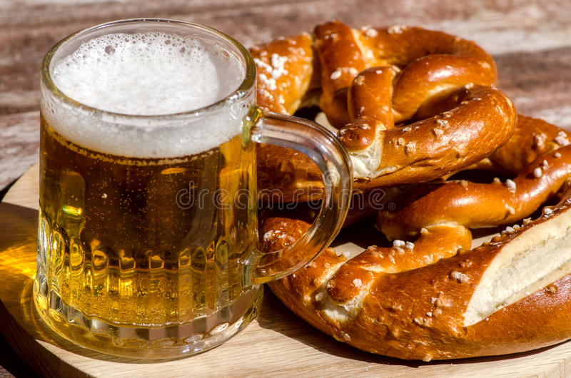 Traditional German pretzels royalty free stock photo