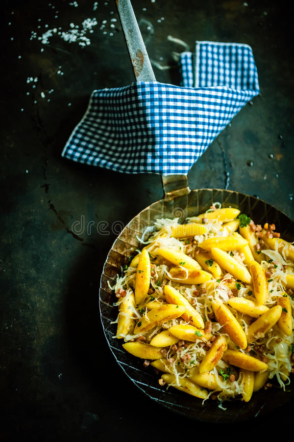 Traditional German Spaetzle royalty free stock images