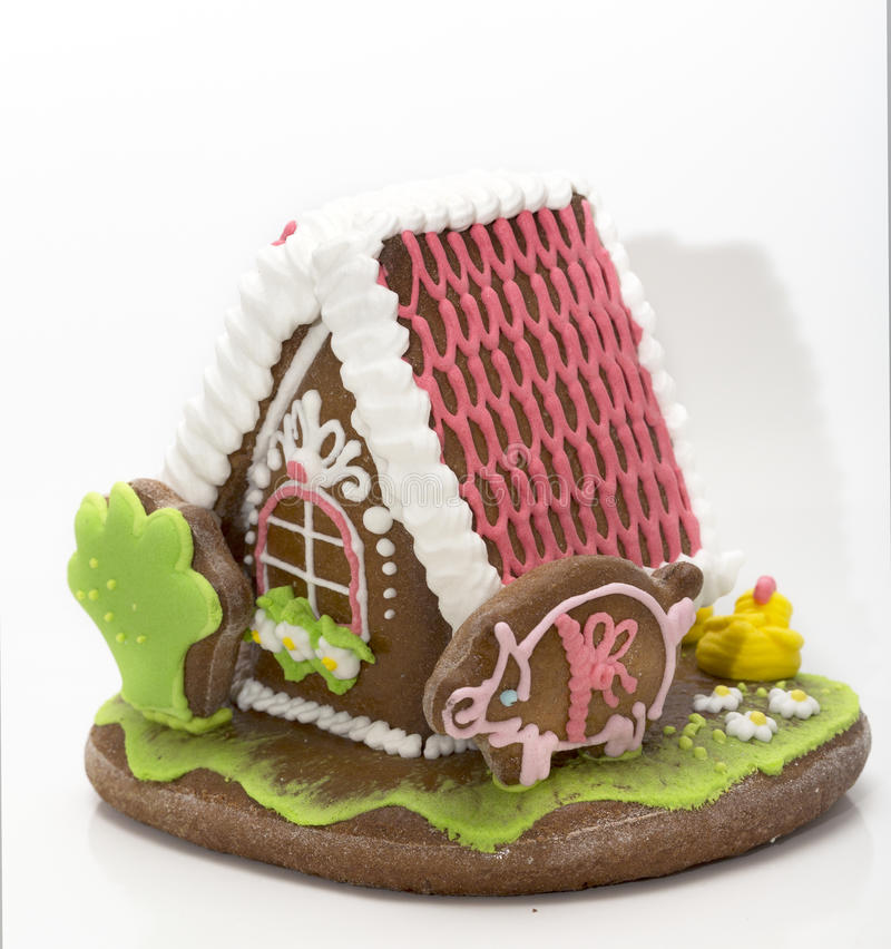 The traditional gingerbread house royalty free stock photo