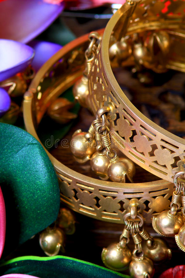 Download Traditional Golden Bracelets Stock Photo - Image: 28122196