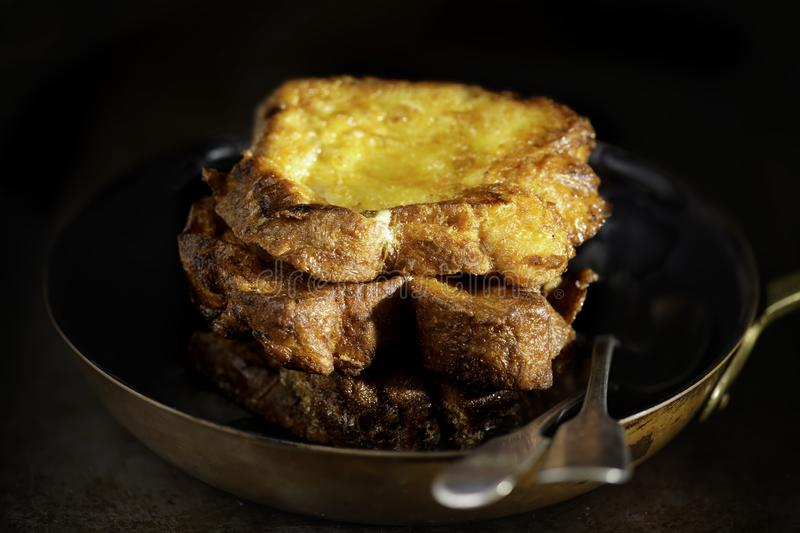 Traditional golden fried french toast breakfast stock photos