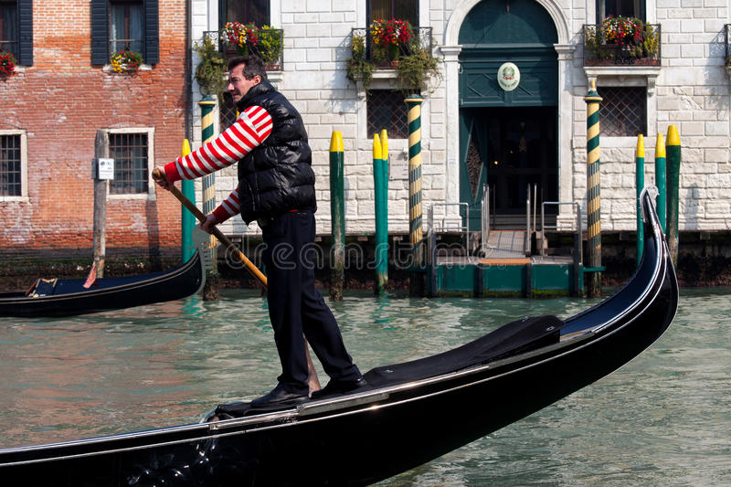 Traditional Gondolas at Venice stock image