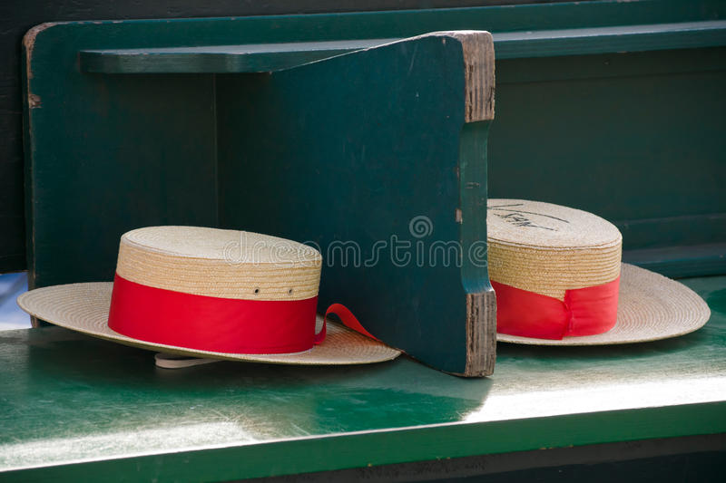 Download Traditional Gondolier's Straw Hats In Venice Stock Photo - Image: 23748286