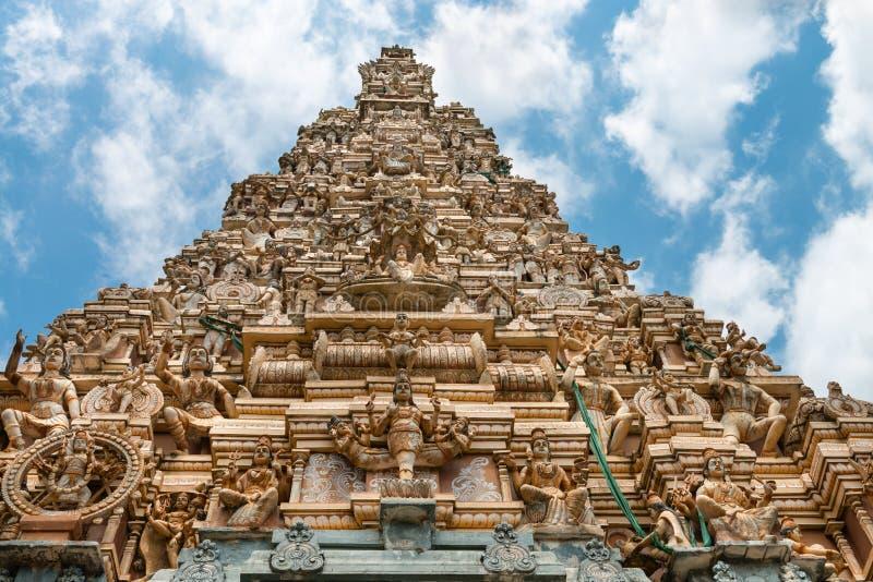 Traditional gopuram of Hindu temple stock photography