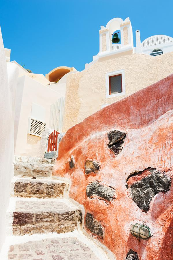 Traditional greek architecture in Santorini, Greece. royalty free stock images