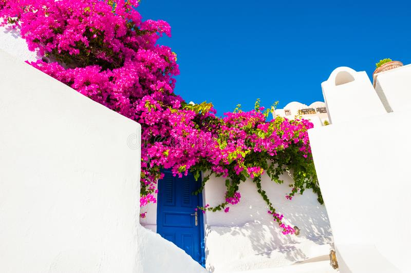 Traditional greek architecture on Santorini island, Greece royalty free stock photo