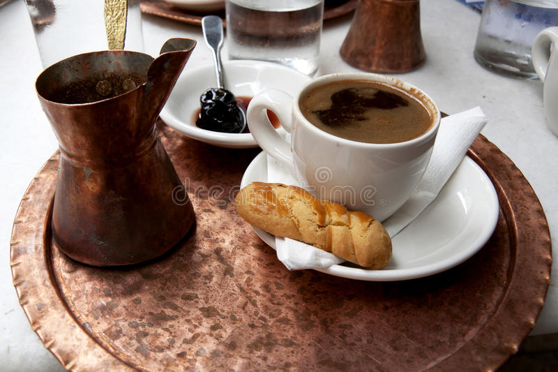 Traditional greek coffee royalty free stock photos