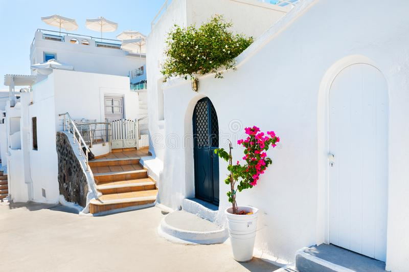 Traditional greek cycladic architecture on Santorini island, Greece royalty free stock photo