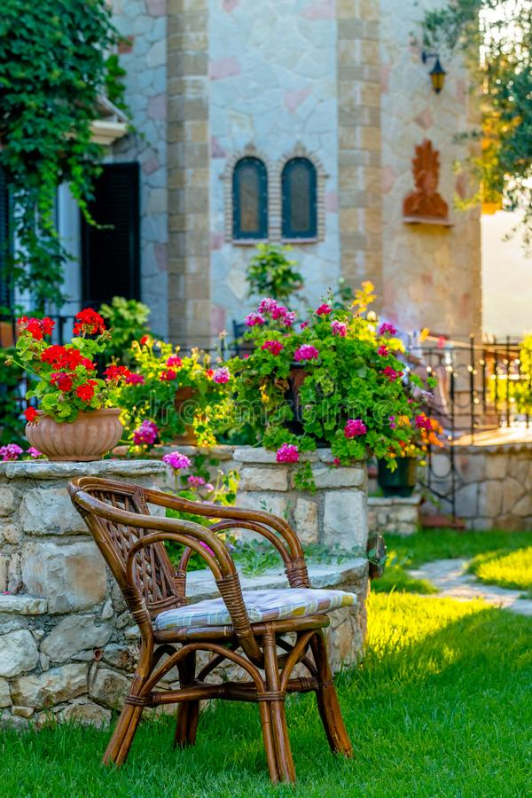 A Traditional Greek Dwelling on Zakynthos stock images
