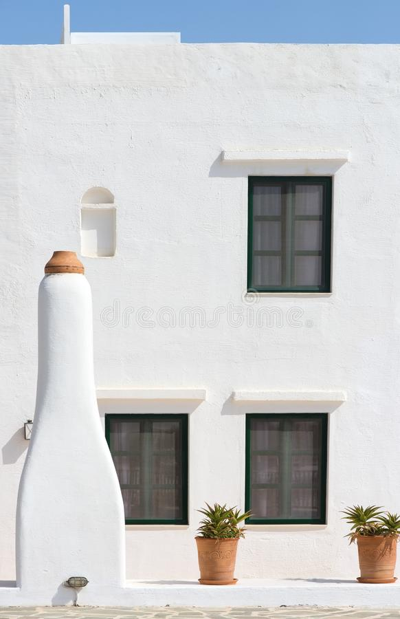 Traditional Greek house detail royalty free stock photos