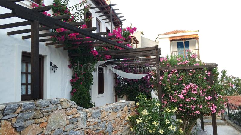 Traditional Greek islands architecture royalty free stock photo