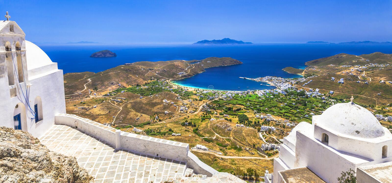 Traditional greek islands - Serifos stock images