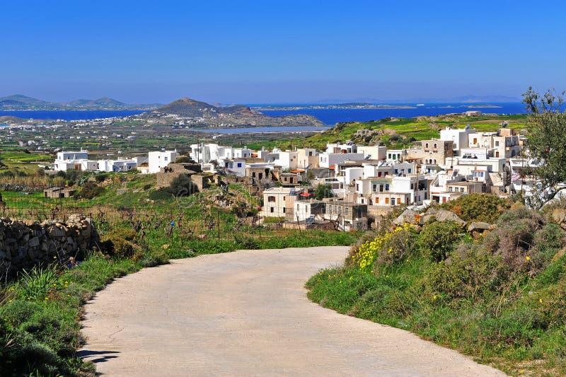 Traditional greek village on Naxos island. Cyclades stock photos