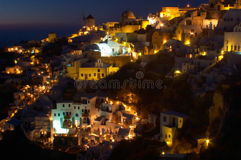 Traditional greek village, Oia, Santorini 4 stock images