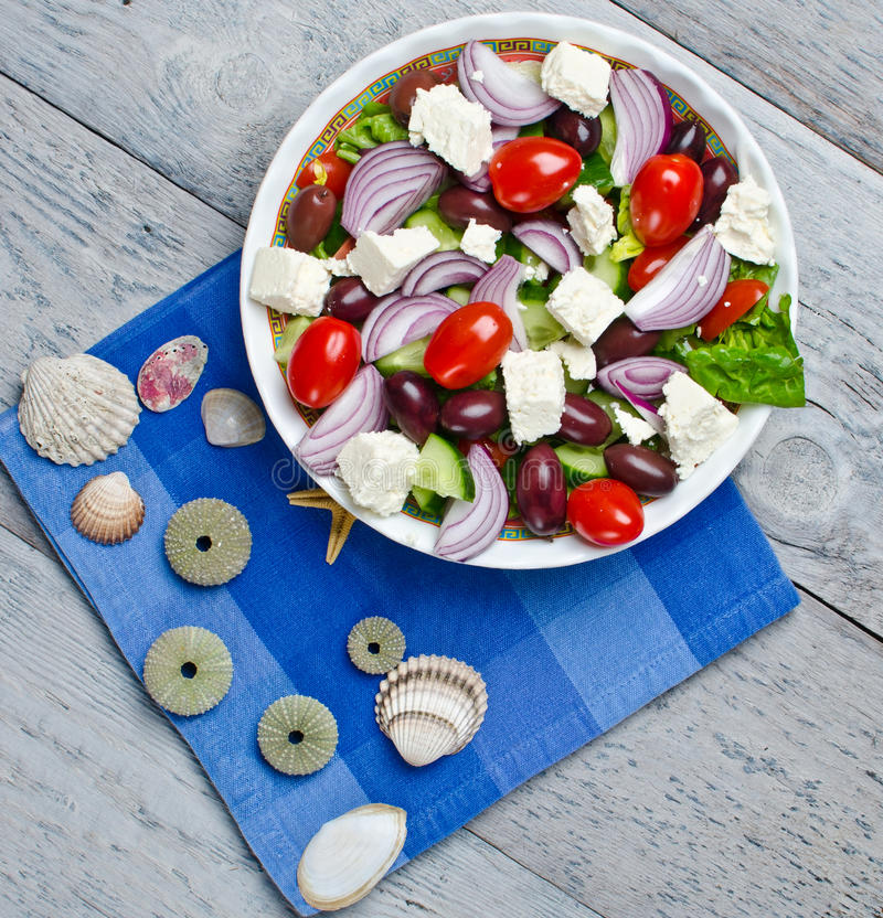 Traditional Greek village salad stock photography