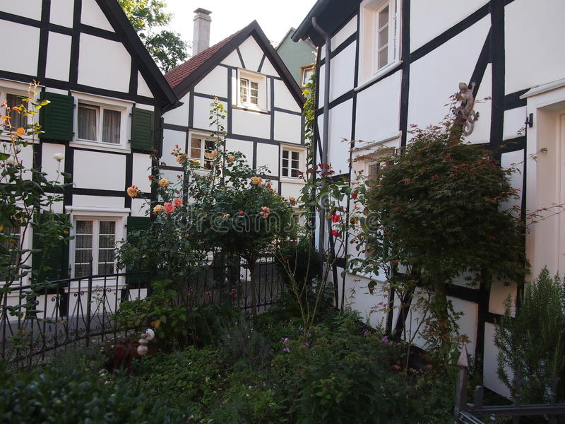 Traditional half-timbered houses in Germany royalty free stock photography