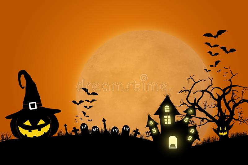 Halloween template design with space for text or message stock photo