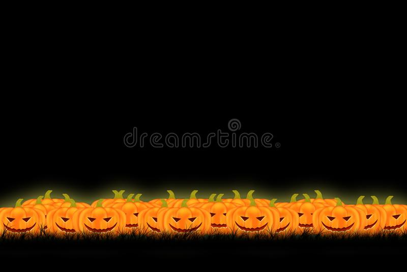 Halloween template design with space for text or message royalty free stock photography