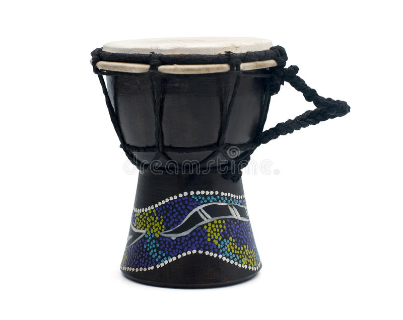 Traditional hand drum. / on a white background royalty free stock images