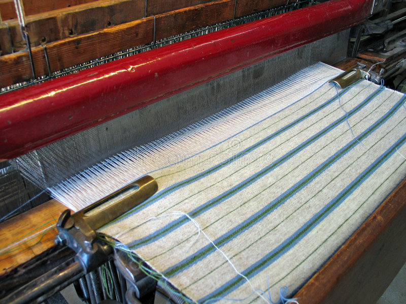 Traditional hand loom stock images