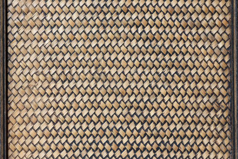 Traditional handicraft weave bamboo background stock image