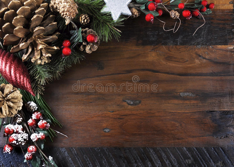 Traditional Happy Holidays and Christmas background royalty free stock images