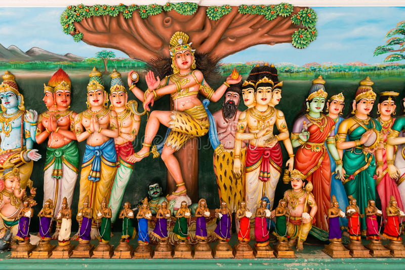 Traditional Hindu Gods statues stock image