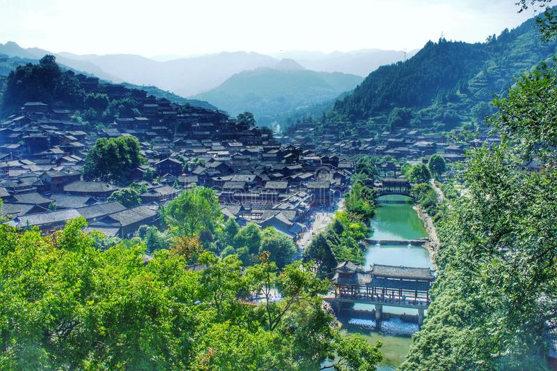 A traditional and historic village in China stock photography