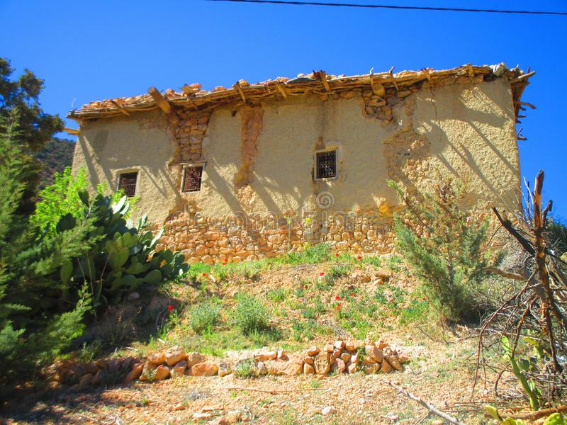 Traditional home in moroccan mountains royalty free stock images