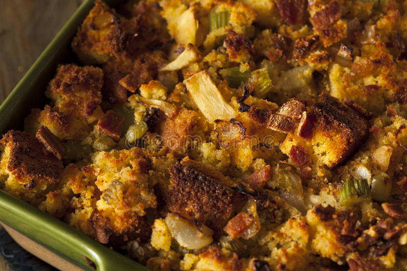 Traditional Homemade Cornbread Stuffing. For the Holidays stock photography
