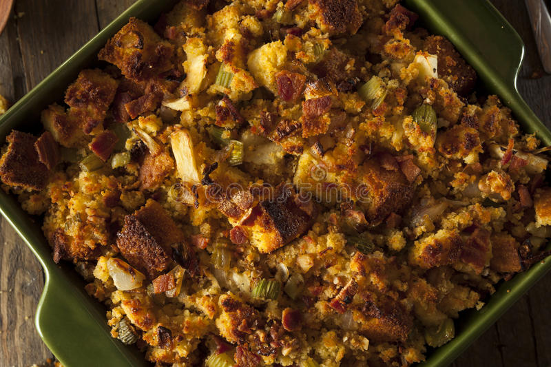 Traditional Homemade Cornbread Stuffing. For the Holidays stock image