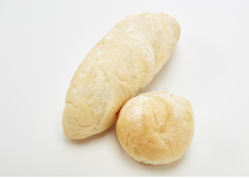 Traditional homemade french bread. On a white background stock images