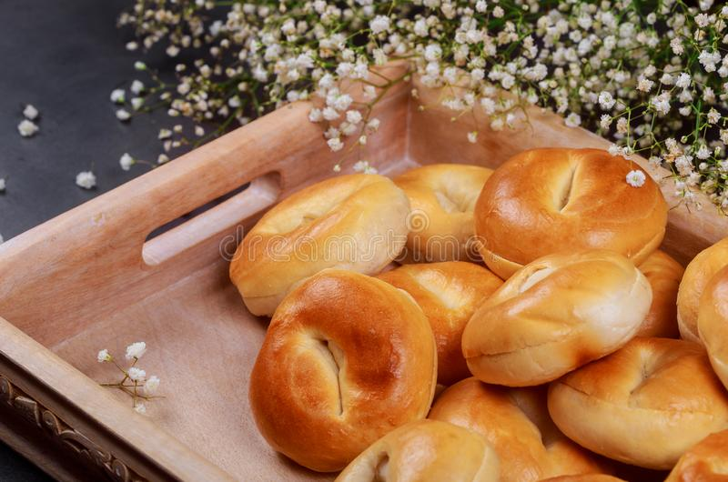Traditional of homemade buns with fresh baked buns over the wooden. Traditional of homemade with fresh baked buns over the wooden delicious bread ukraine pastry stock image