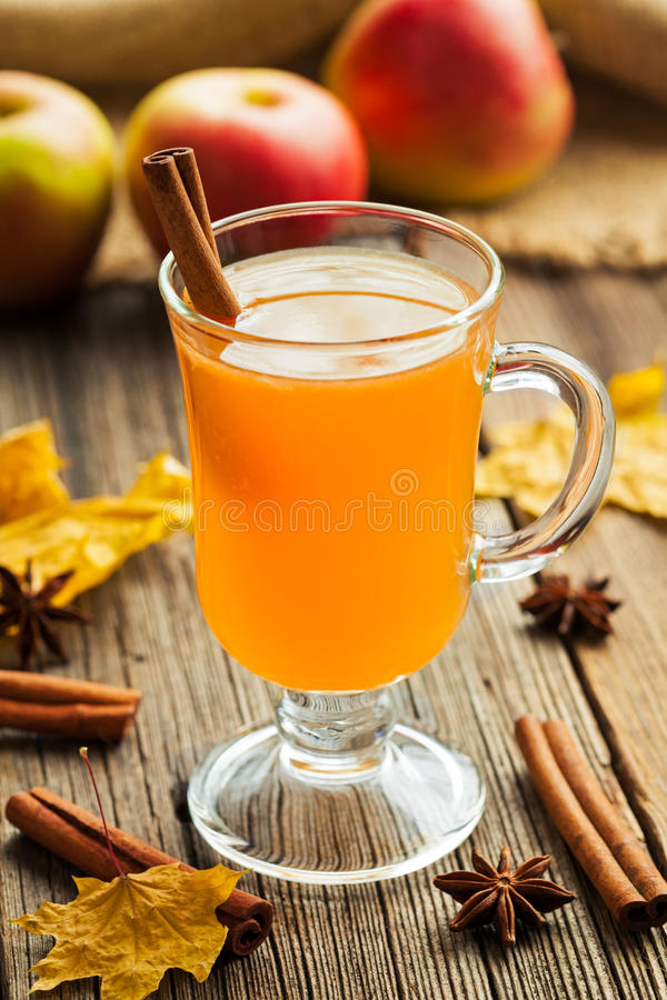 Traditional Homemade Hot Apple Cider Thanksgiving Stock ...