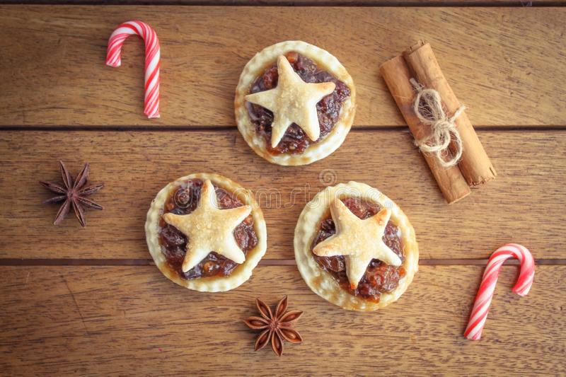 Traditional homemade mince pies royalty free stock photo