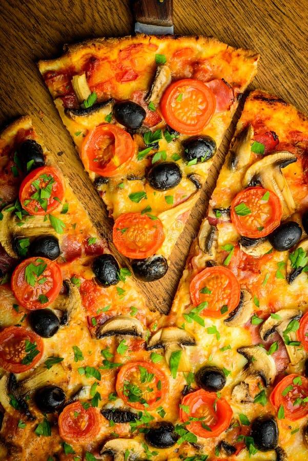 Traditional homemade pizza stock photos