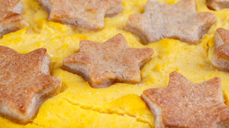Traditional homemade pumpkin pie stock image