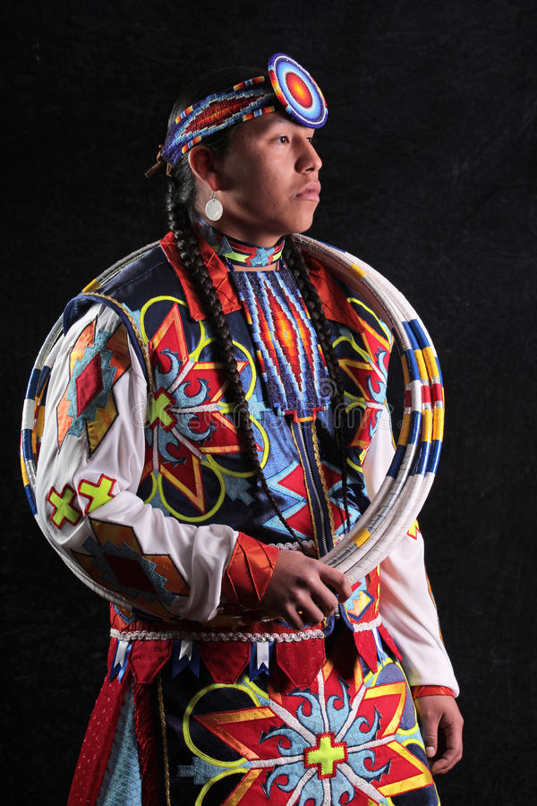 Traditional Hoop Dancer. An Indian hoop dancer at the Heard Museum of Native Cultures and Art, located in Phoenix, Arizona, USA. The Heard hosts the annual World royalty free stock photos